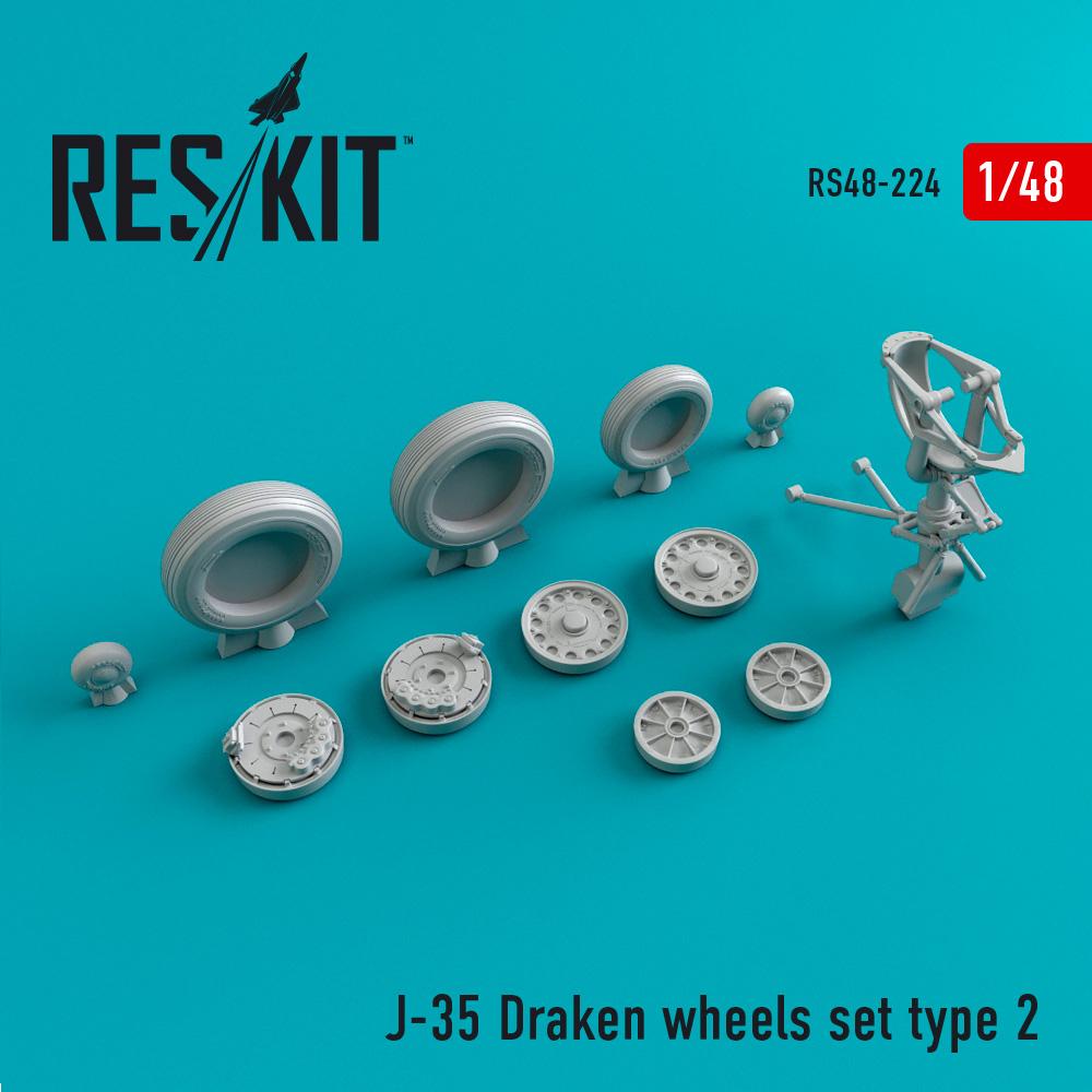 Res/Kit J-35 Draken wheels set type 2