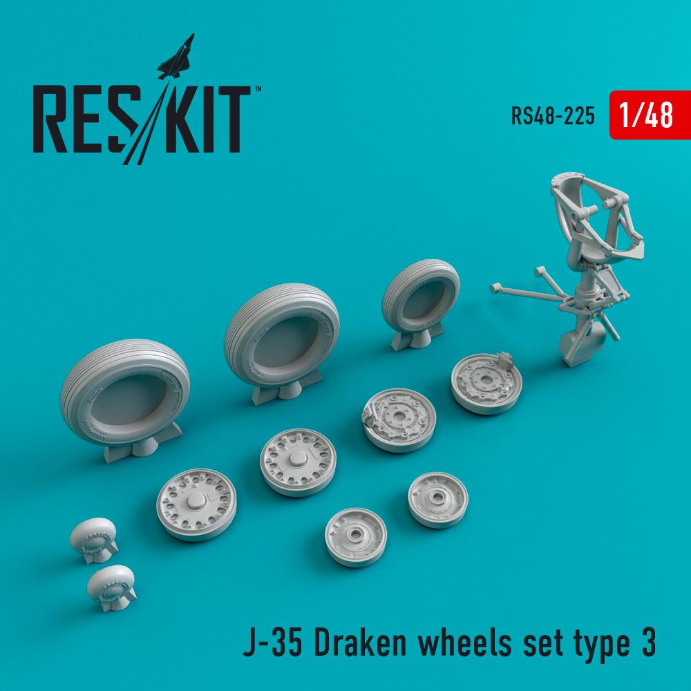 Res/Kit J-35 Draken wheels set type 3