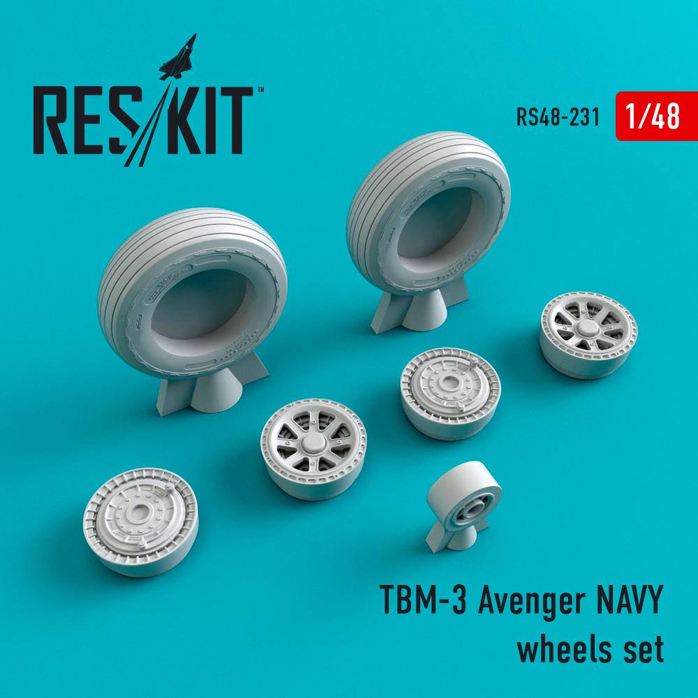 Res/Kit TBM-3 Avenger NAVY wheels set