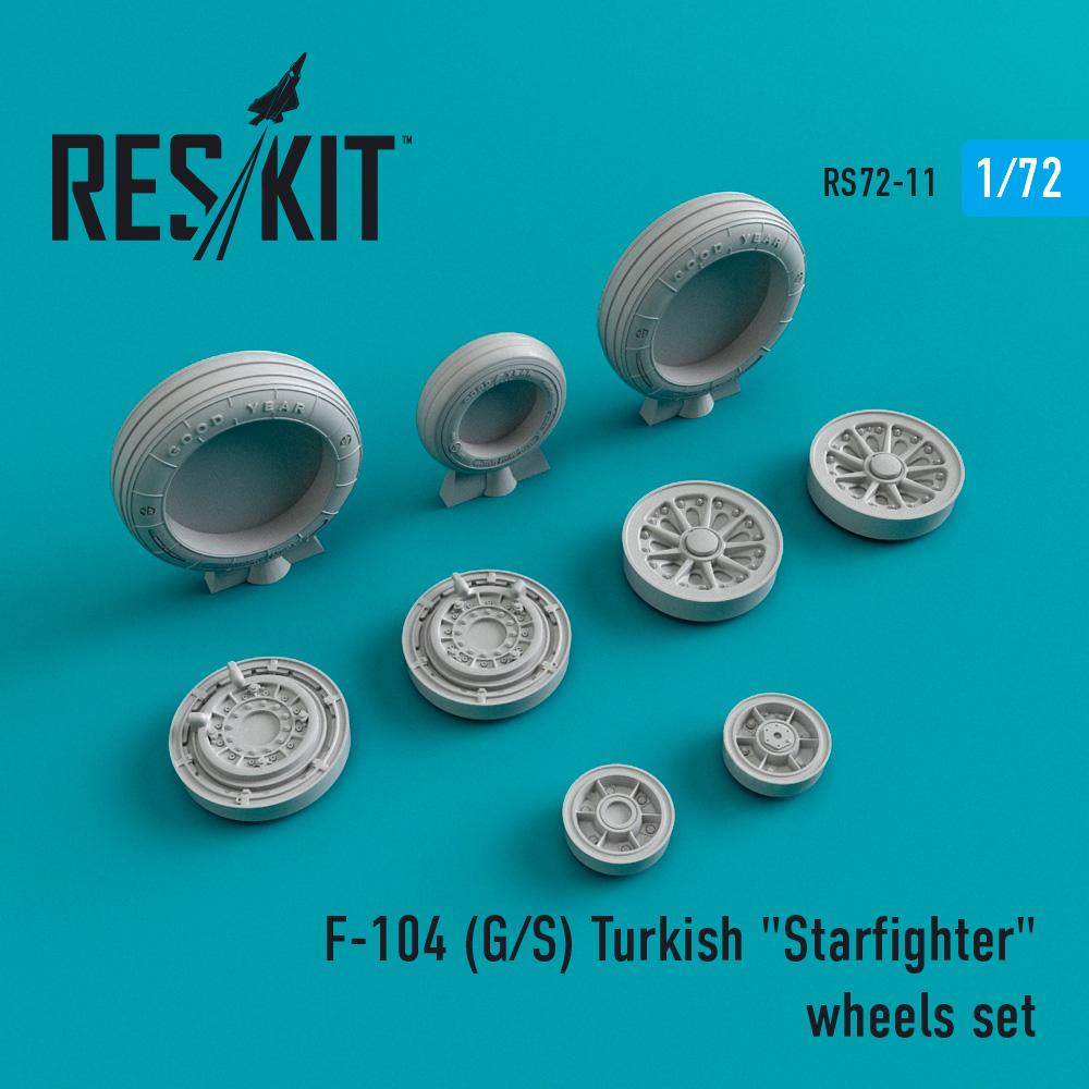 "Res/Kit F-104 (G/S) Turkish ""Starfighter"" wheels set"