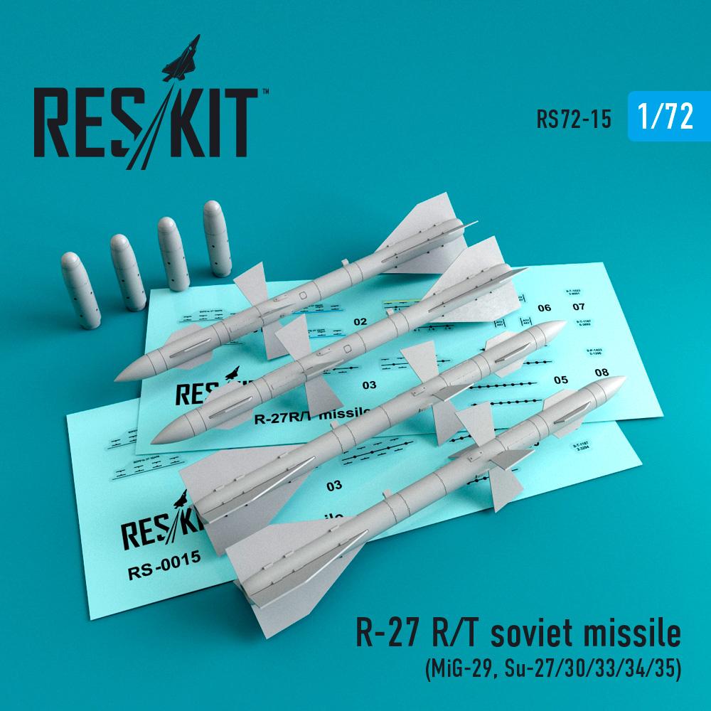 Res/Kit R-27 (R,T) soviet missile (4 pcs) (MiG-29, Su-27/30/32/33/35/37)