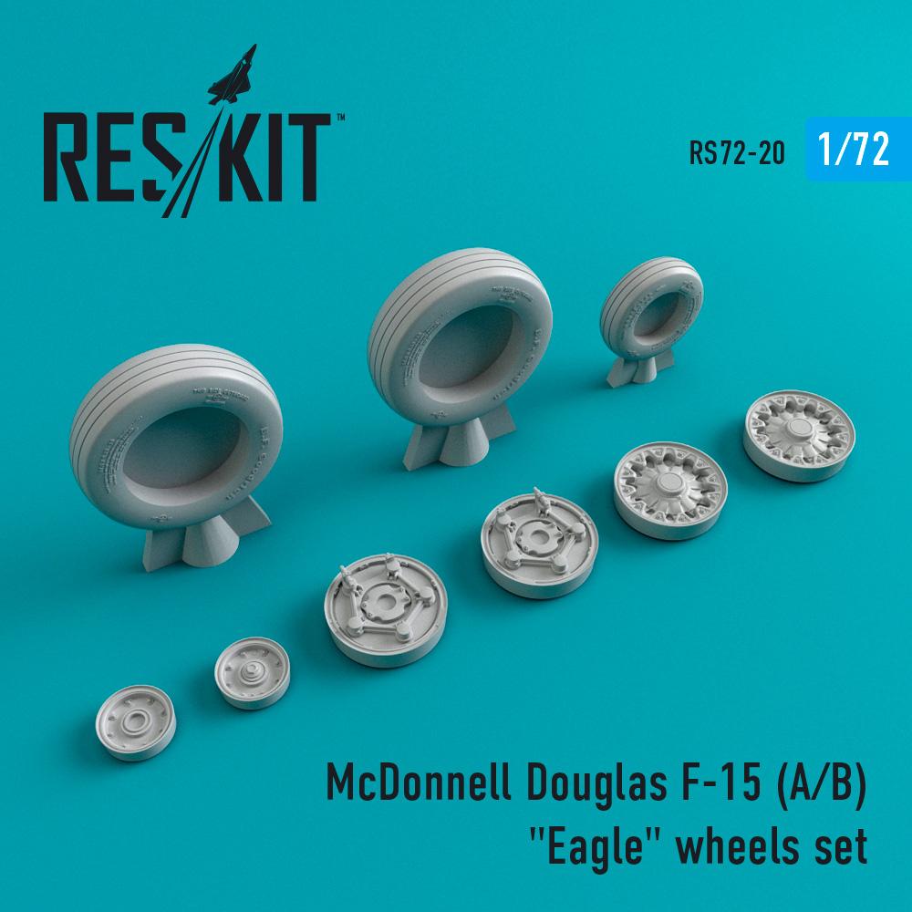 "Res/Kit McDonnell Douglas F-15 (A/B) ""Eagle"" wheels set"