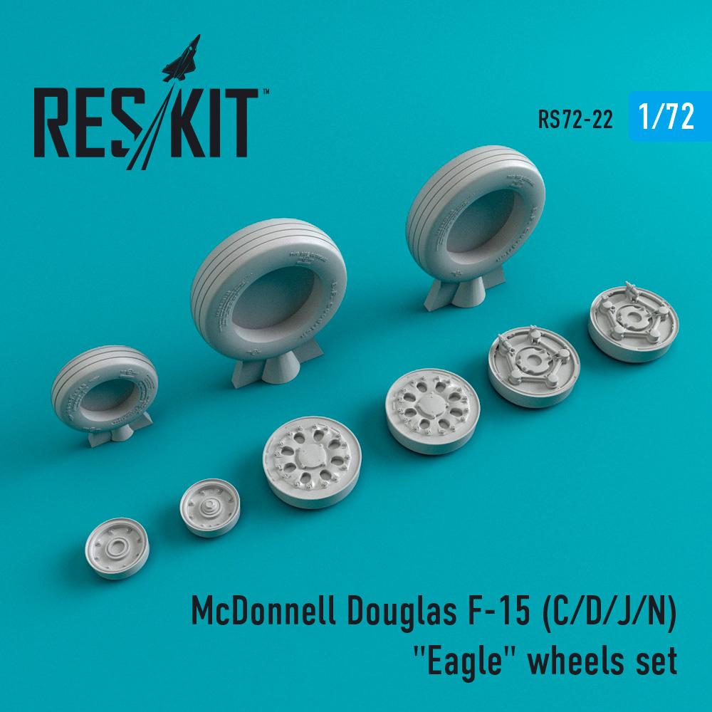 """Res/Kit McDonnell Douglas F-15 (C/D/J/N) """"Eagle"""" wheels set"""
