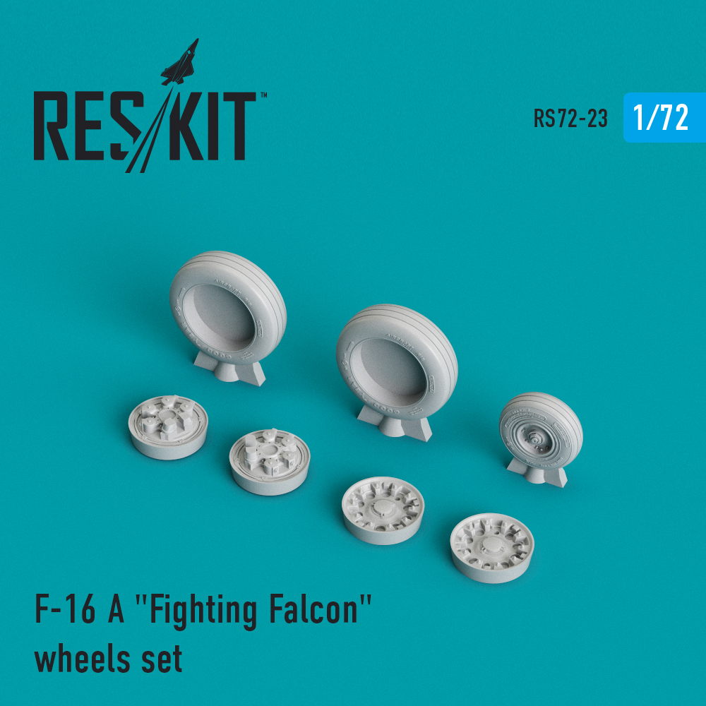"Res/Kit General Dynamics F-16 (A) ""Fighting Falcon"" wheels set"