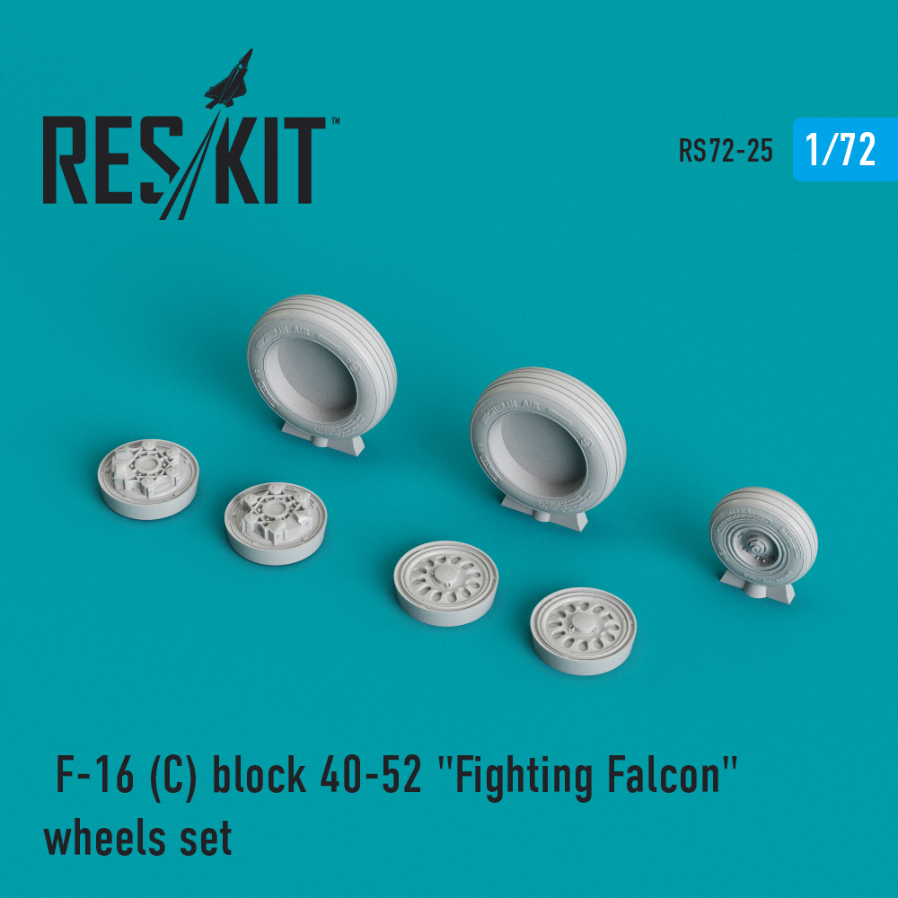 "Res/Kit General Dynamics F-16 (C) block 40-52 ""Fighting Falcon"" wheels set"