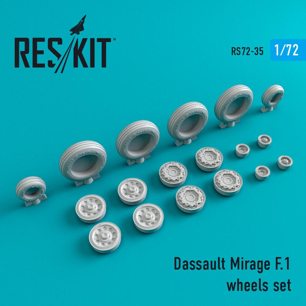 Res/Kit Dassault Mirage F.1 wheels set