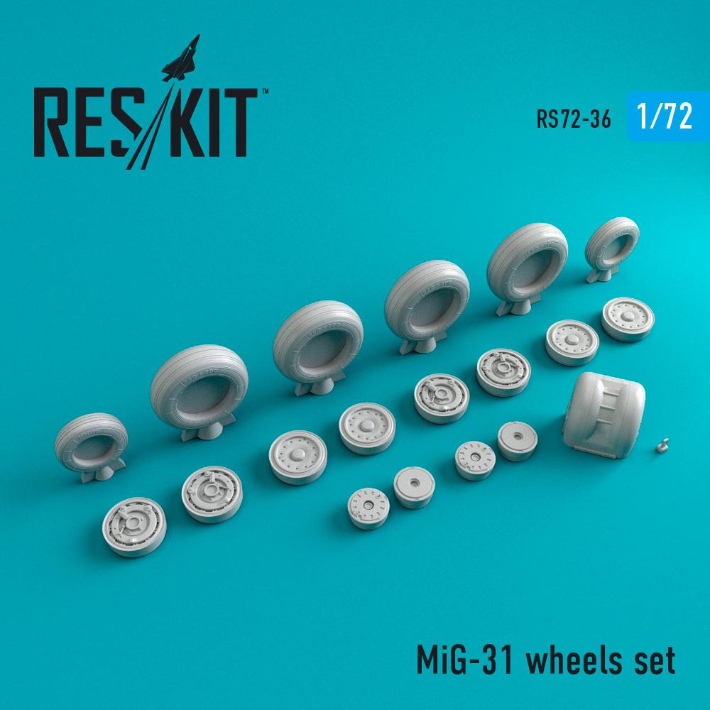 Res/Kit MiG-31 wheels set