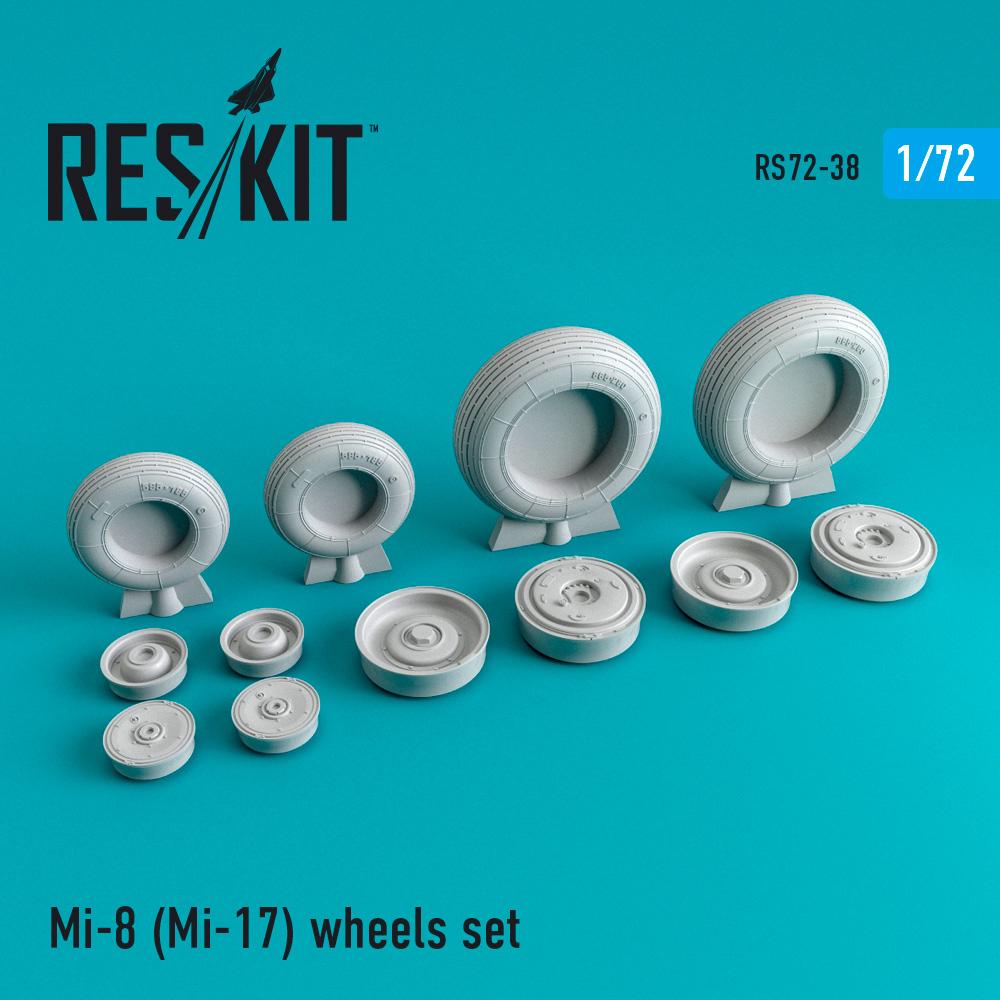 Res/Kit Mi-8 (Mi-17) wheels set