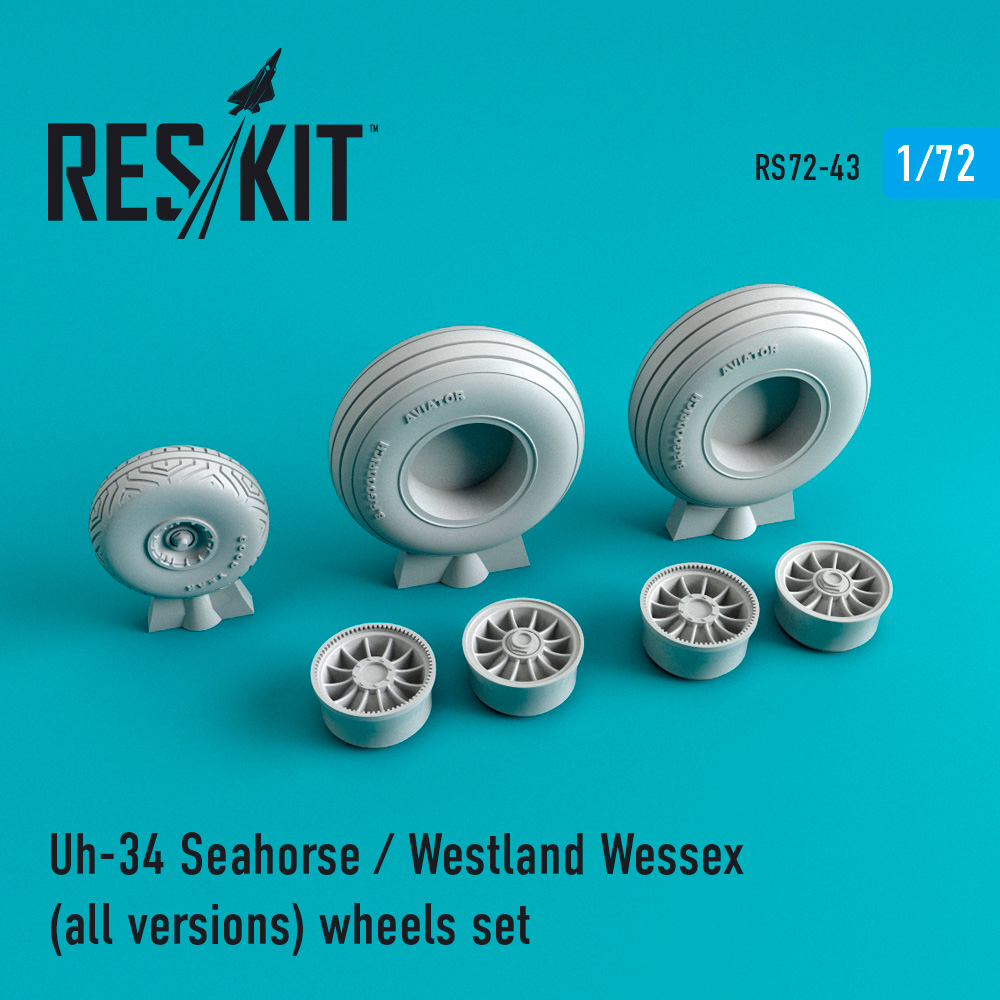 Res/Kit Uh-34 Seahorse / westland wessex (all versions) wheels set