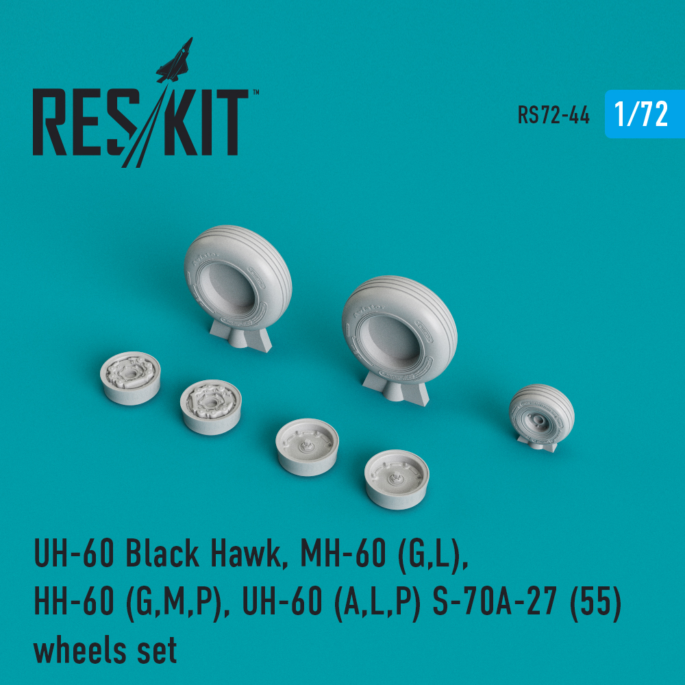 Res/Kit UH-60 Black Hawk, MH-60 (G,L), HH-60 (G,M,P), UH-60 (A,L,P) S-70A-27 (55) wheels set