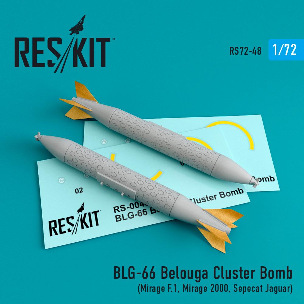 Res/Kit BLG-66 Belouga Cluster Bomb (2 pcs) (Mirage F.1, Mirage 2000, Sepecat Jaguar)