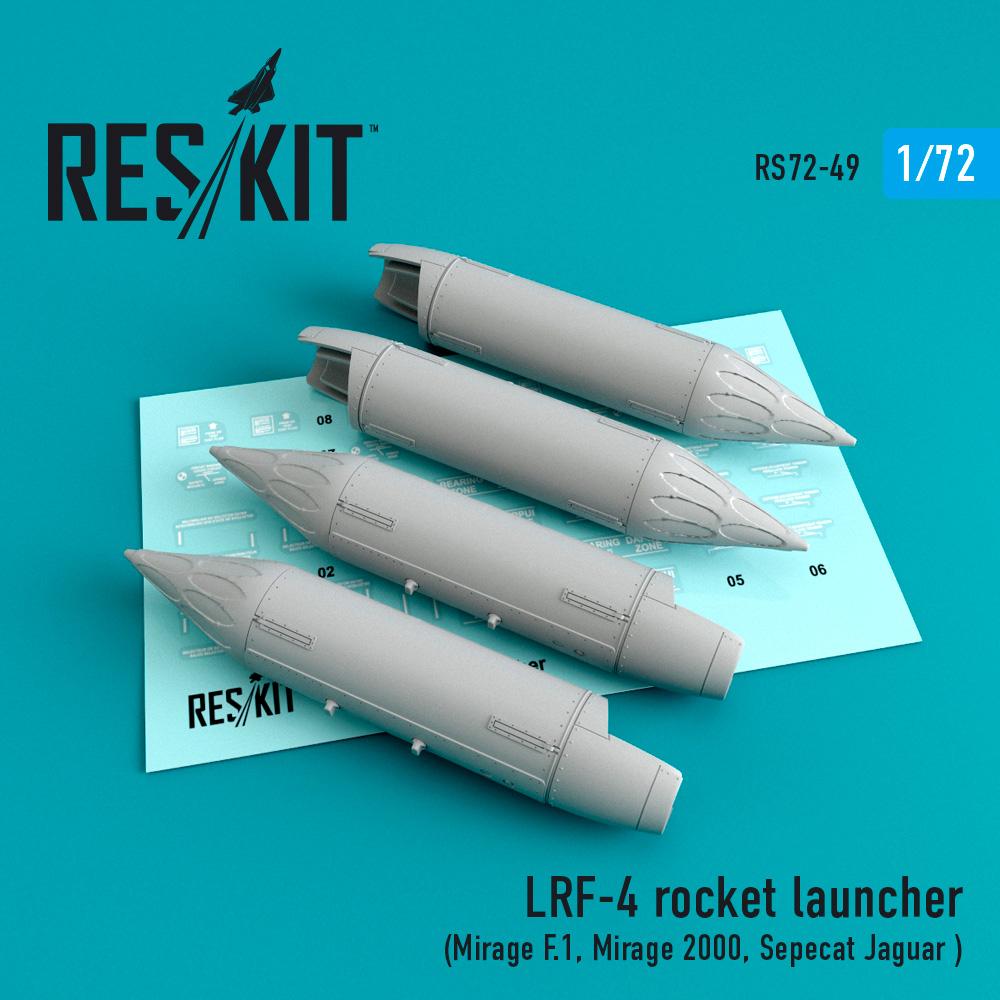 Res/Kit LRF-4 rocket launcher (4 pcs) (Mirage F.1, Mirage 2000, Sepecat Jaguar )