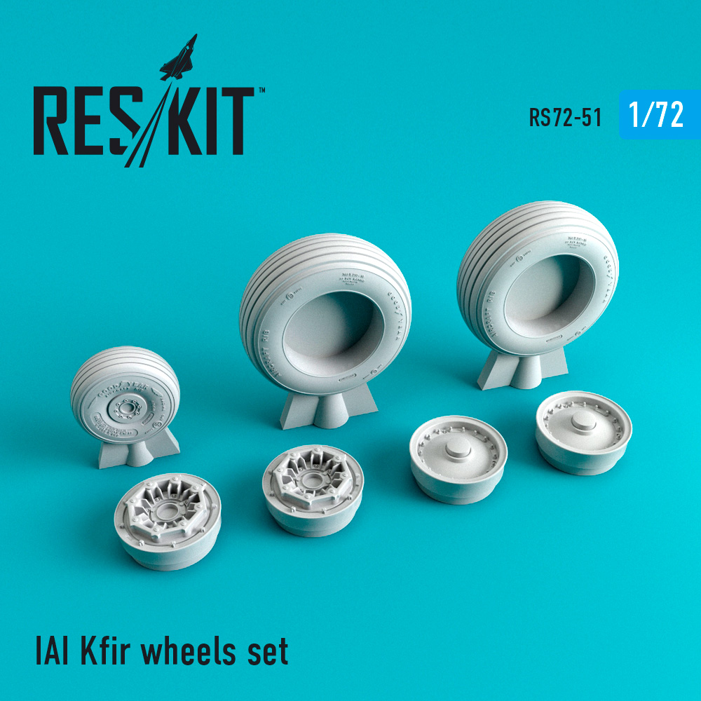 Res/Kit IAI Kfir wheels set
