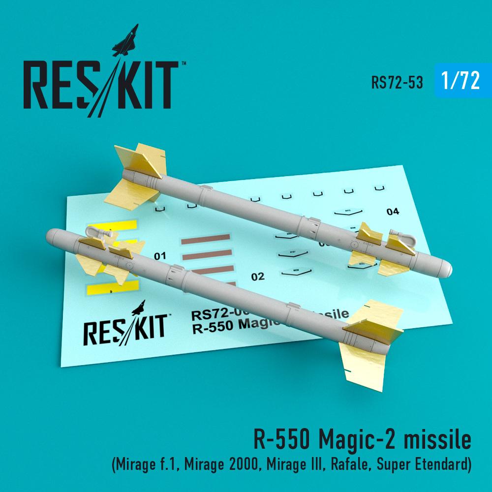 Res/Kit R-550 Magic-2 missile (4 pcs) (Mirage f.1, Mirage 2000, Mirage III, Rafale, Super Etendard)