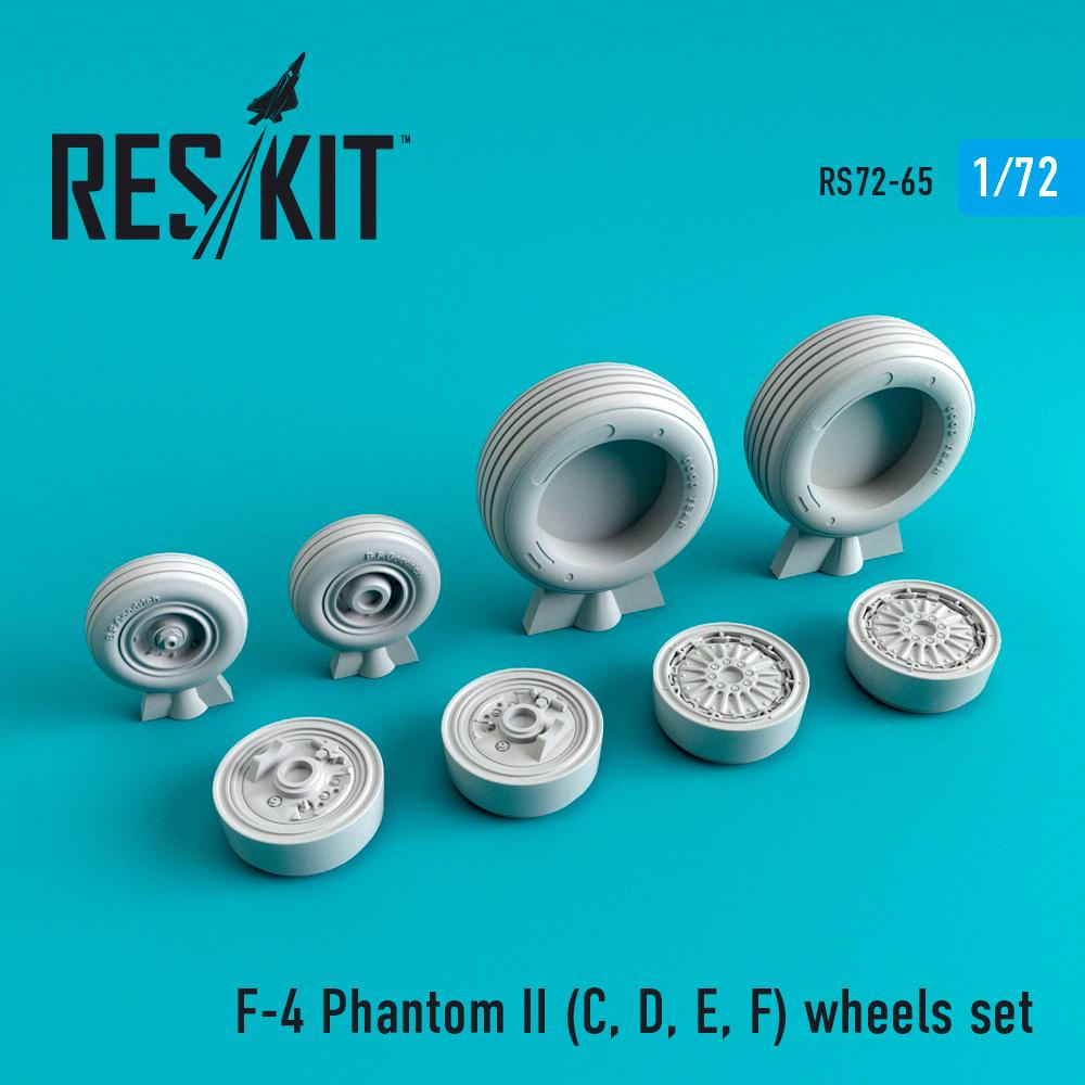 Res/Kit F-4 Phantom II (C, D, E, F,G) wheels set