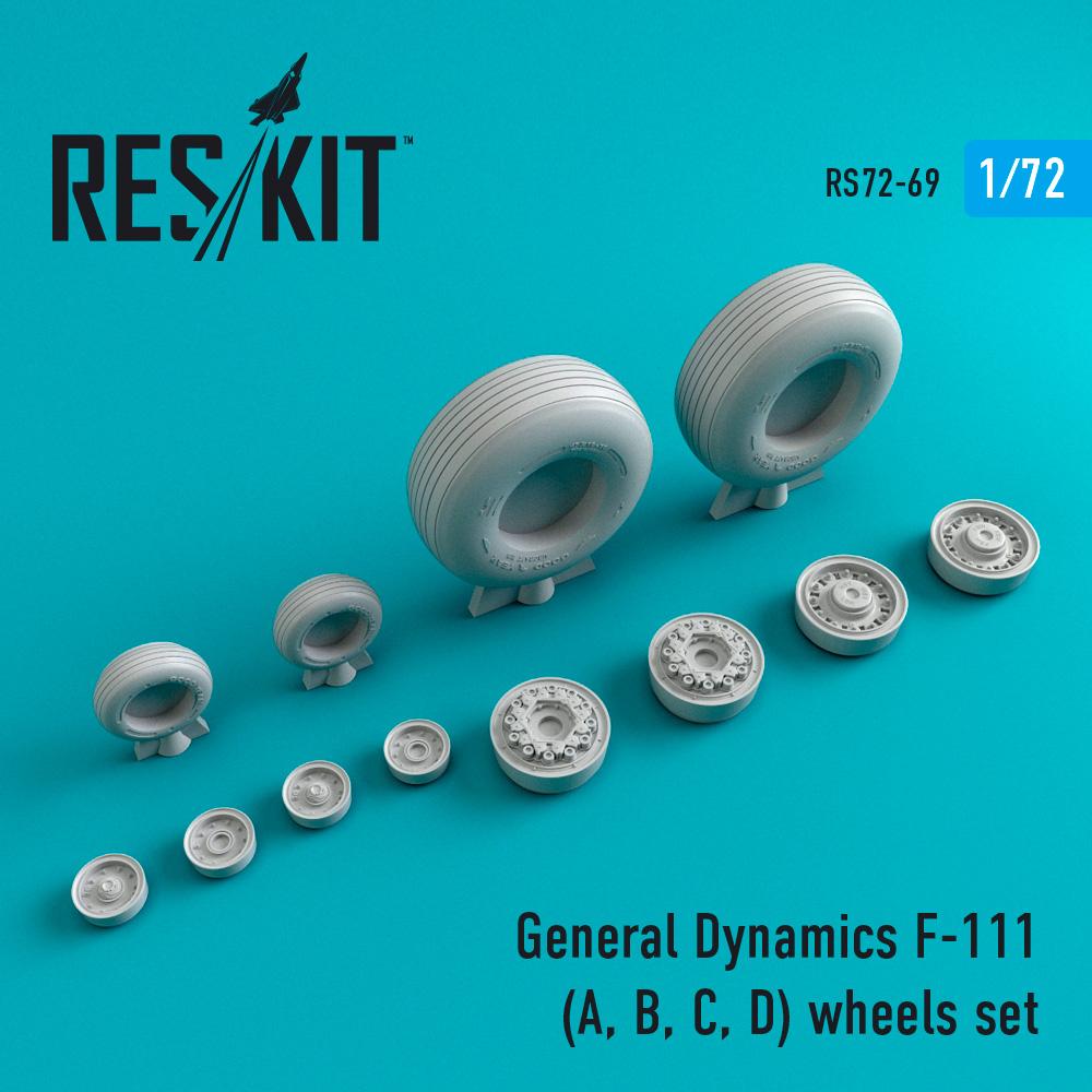 Res/Kit General Dynamics F-111 (A, B, C, D) wheels set