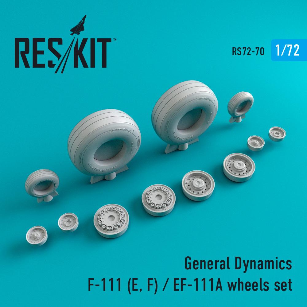 Res/Kit General Dynamics F-111 (E, F) / EF-111A wheels set