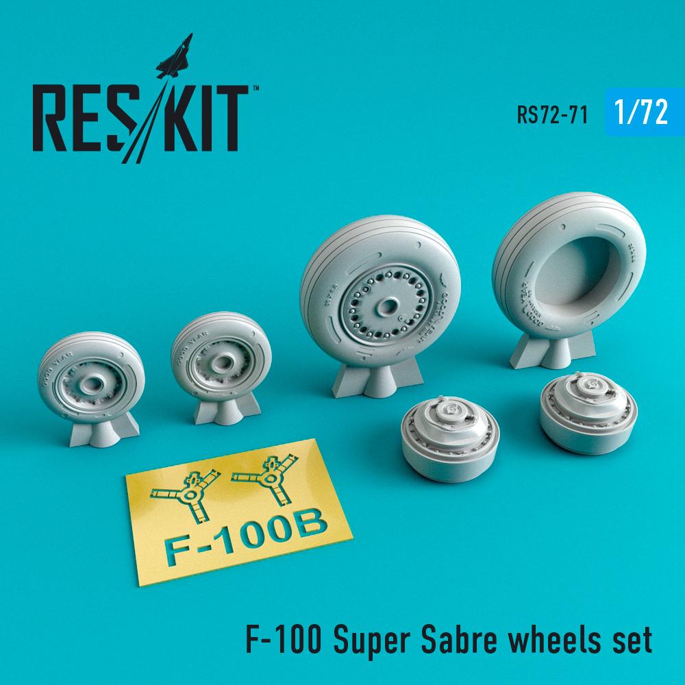 Res/Kit North American F-100 Super Sabre wheels set