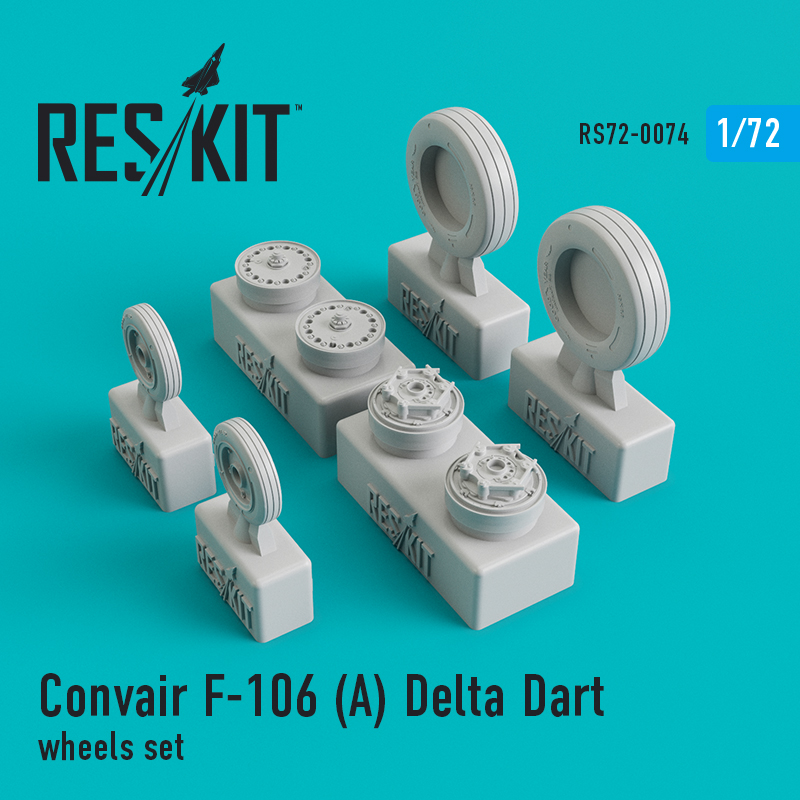 Res/Kit Convair F-106 (_) Delta Dart wheels set