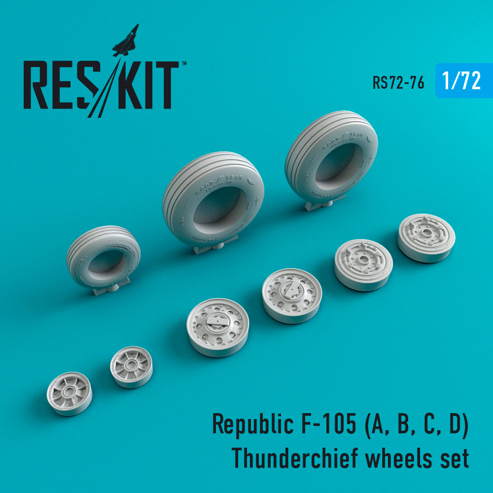 Res/Kit Republic F-105 (A, B, C, D) Thunderchief wheels set