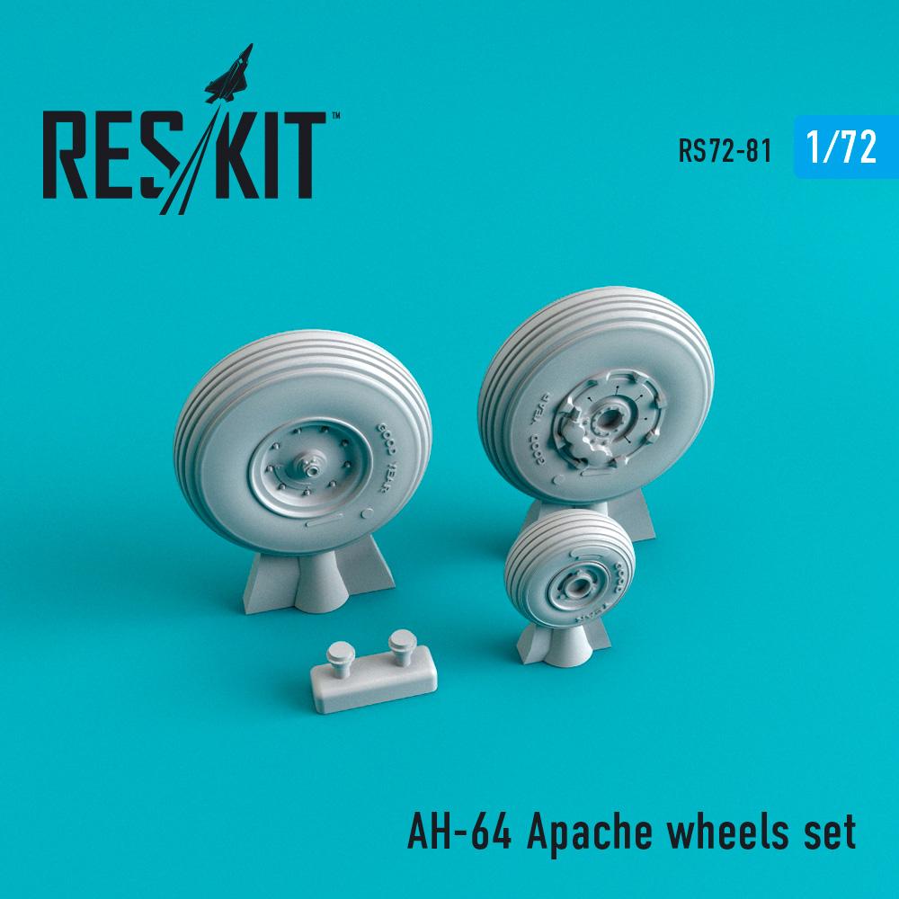 Res/Kit McDonnell Douglas AH-64 Apache wheels set