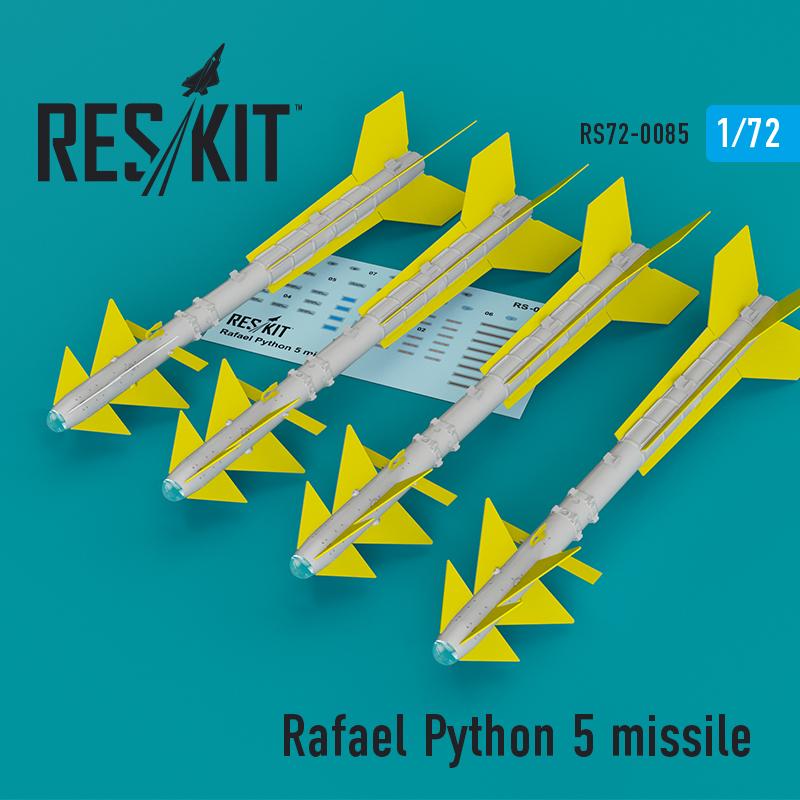 Res/Kit Rafael Python 5 missile (4 pcs) (F-16I, F-16D, F-15I, Mirage F.1)