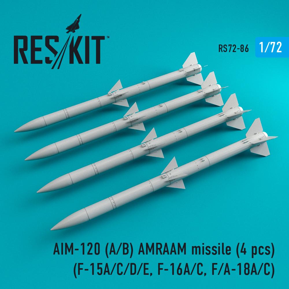 Res/Kit AIM-120 (A/B) AMRAAM missile (4 pcs) (F-15A/C/D/E, F-16A/C, F/A-18A/C)