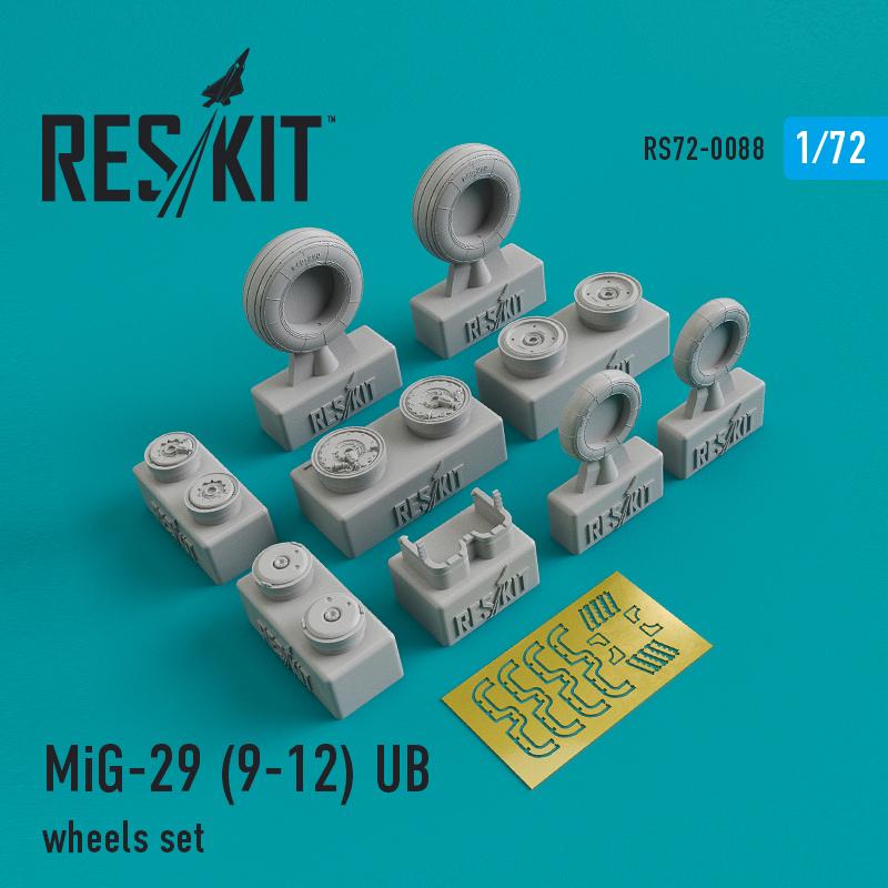 Res/Kit Mikoyan MiG-29 (9-12) UB wheels set