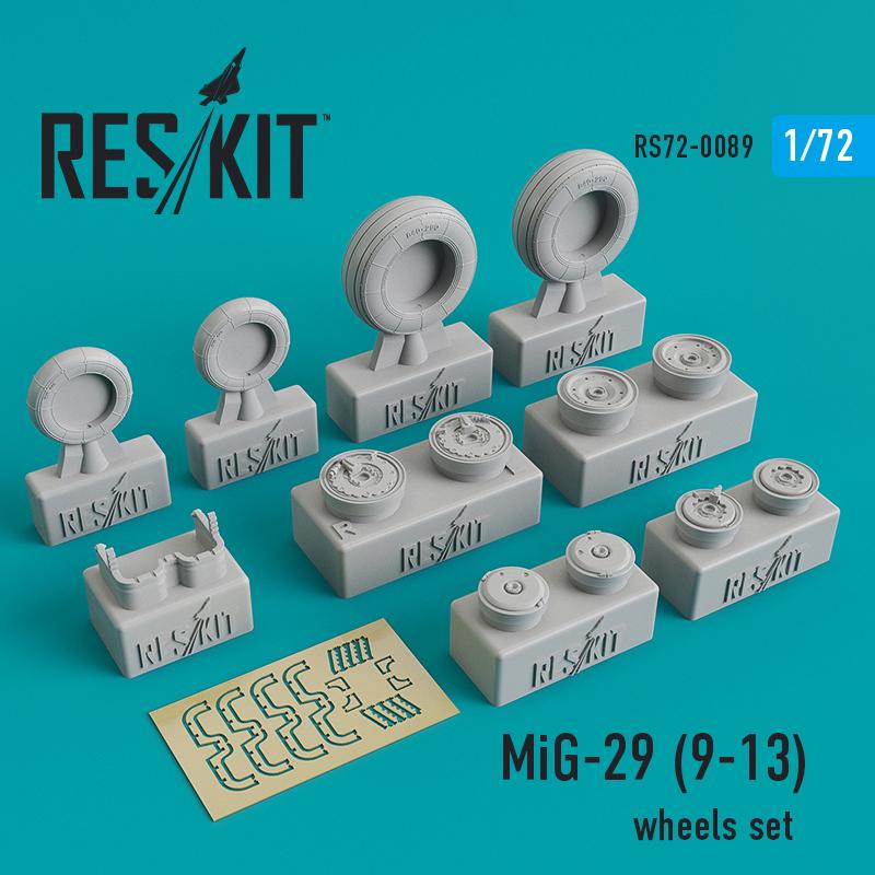 Res/Kit Mikoyan MiG-29 (9-13) wheels set