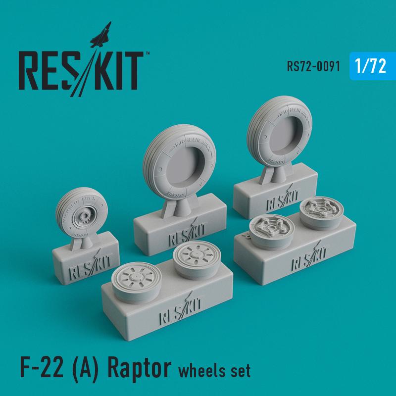 Res/Kit F-22A Raptor wheels set