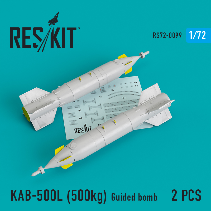 Res/Kit KAB-500L (500kg) Guided bomb (2 pcs) (Su-24/30/34, MiG-27, MiG-29SMT, YAK-130)