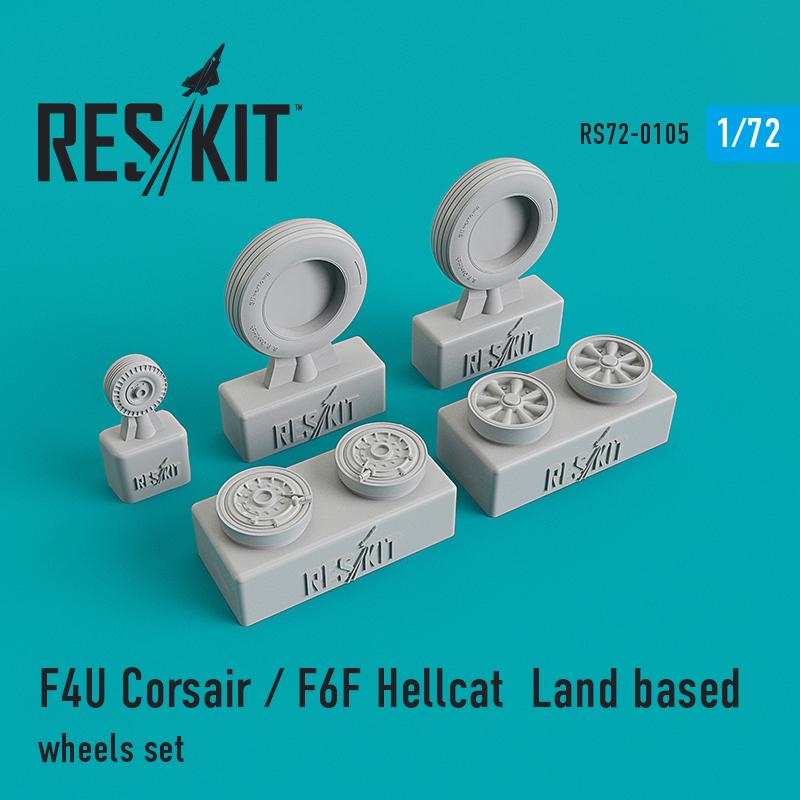 Res/Kit F4U Corsair / F6F Hellcat Land based wheels set
