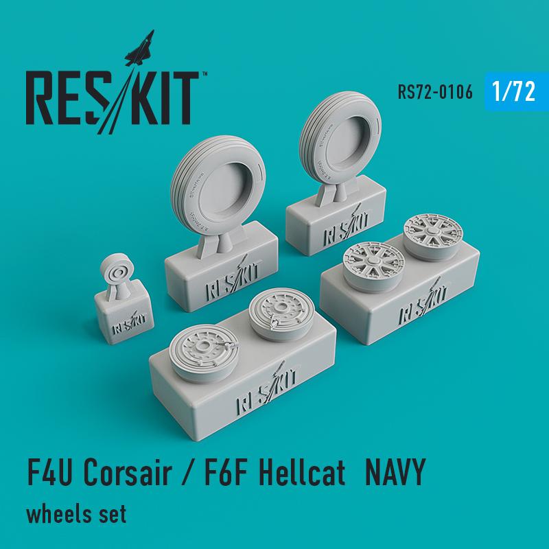 Res/Kit F4U Corsair / F6F Hellcat NAVY wheels set