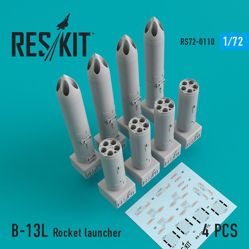 Res/Kit B-13L Rocket launcher (4 pcs) (Su-17/24/25/30/34, MiG-27/29, YAK-130)
