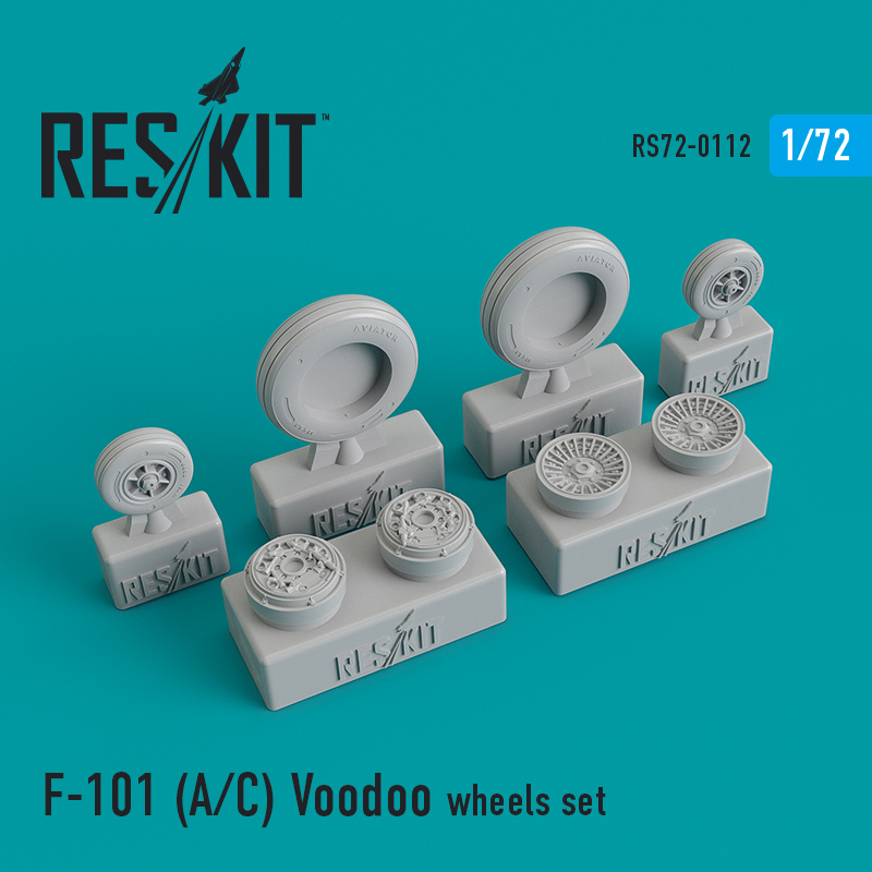 Res/Kit McDonnell F-101 (A/C) Voodoo wheels set