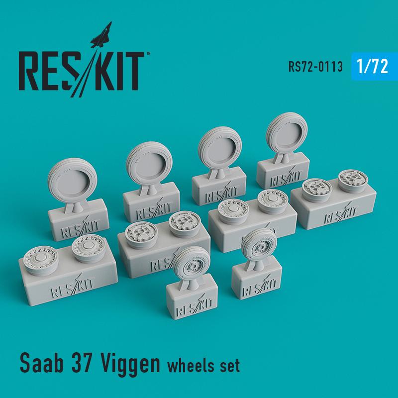 Res/Kit Saab 37 Viggen wheels set
