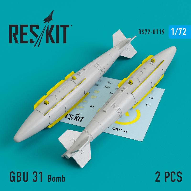 Res/Kit GBU 31 Bomb (2 pcs) (A-10, B-1, B-2, B-52, F-16, F-15, F-35)