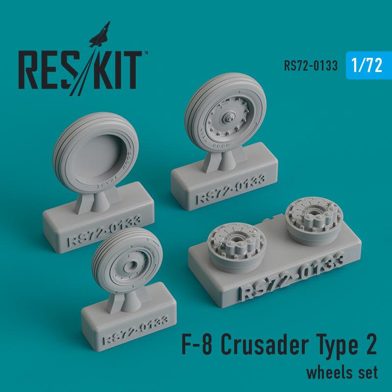 Res/Kit F-8 Crusader Type 2 wheels set