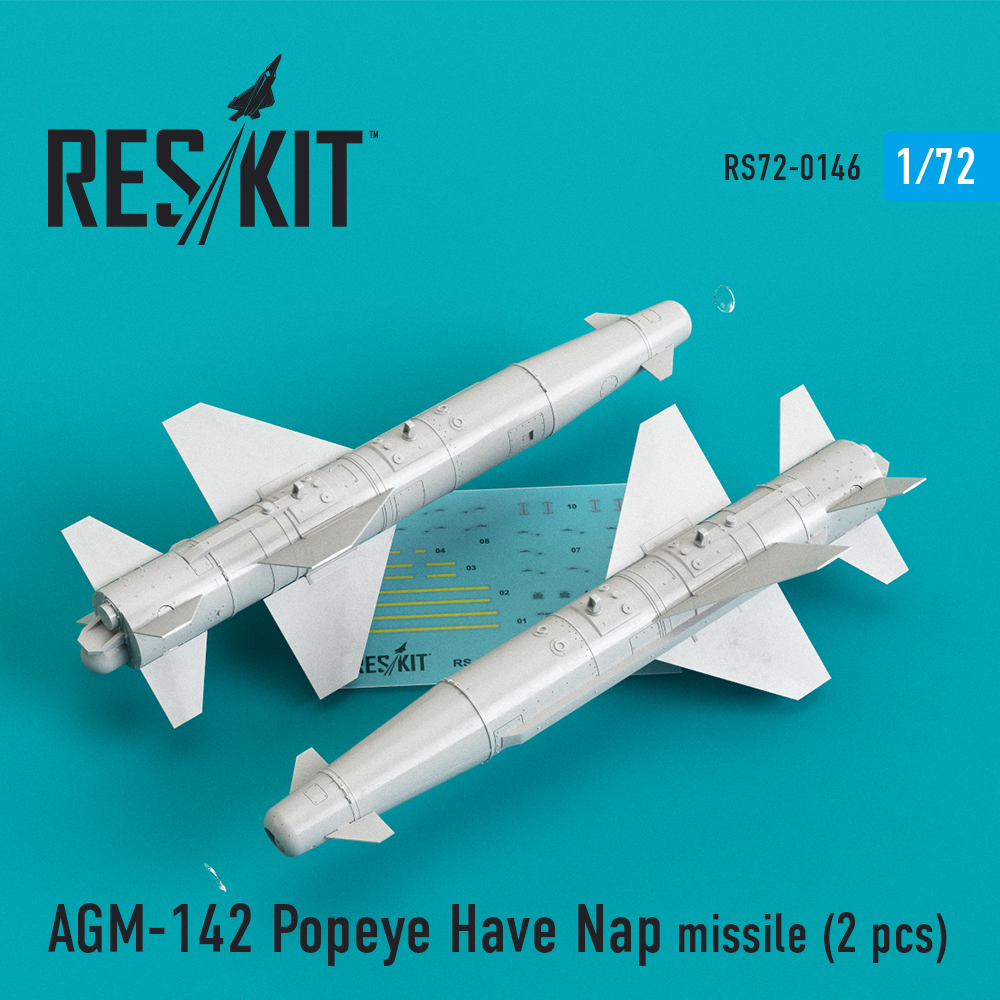 Res/Kit AGM-142 Popeye Have Nap missile (2 pcs) (F-4, F-15, F-16, F-111)