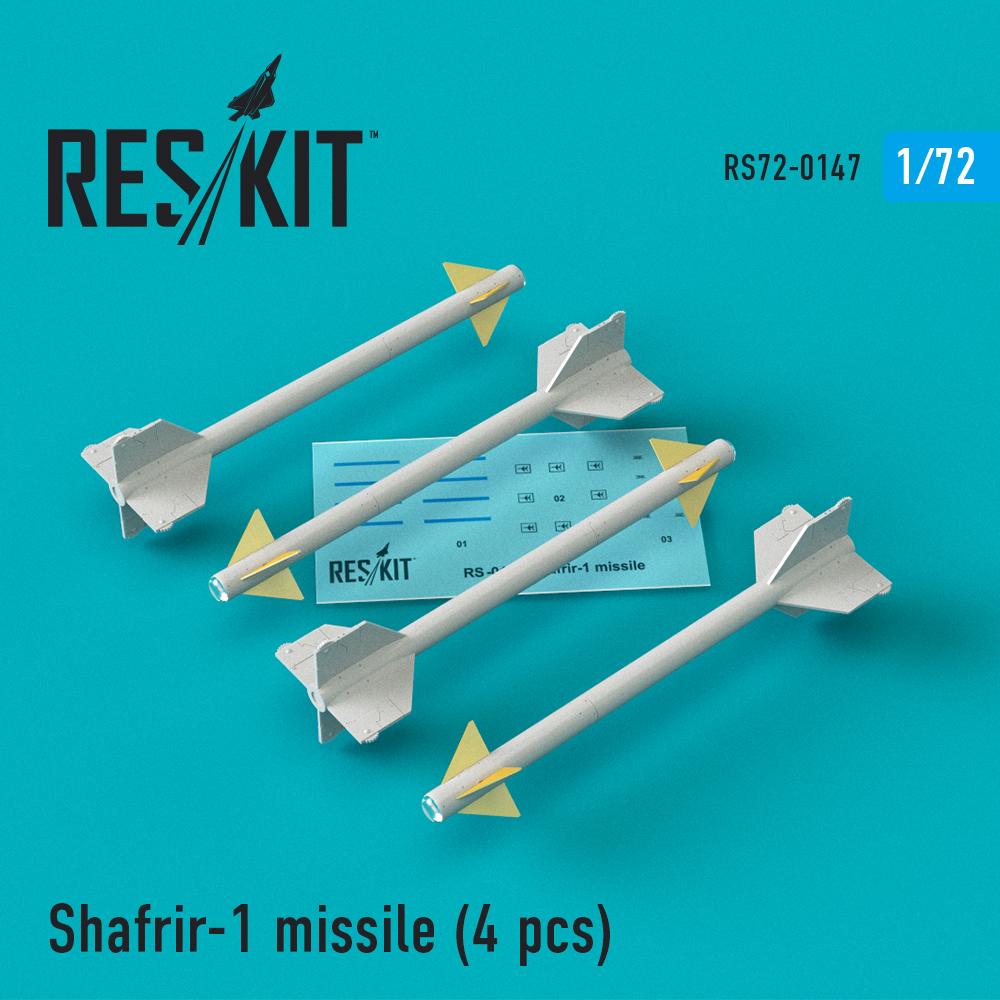 Res/Kit Shafrir-1 missile (4) pcs (Mirage 3C, Mirage 3CJ, Vautour II)