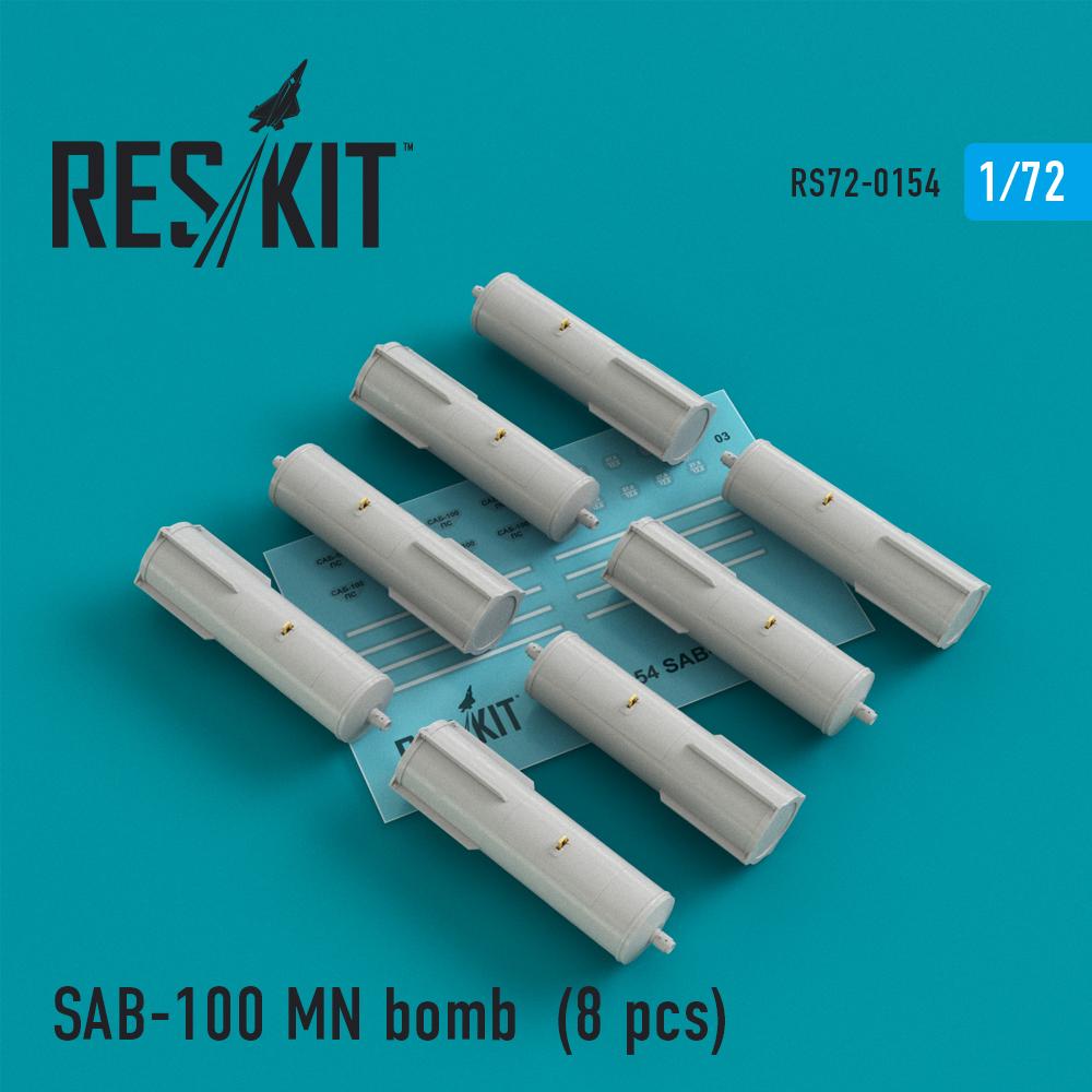 Res/Kit SAB-100 MN bomb (8 pcs) Su-7, Su-17, Su-24, Su-25, Su-27, Su-30, Su-34, MiG-21, MiG-27, Yak-38, Jak-130