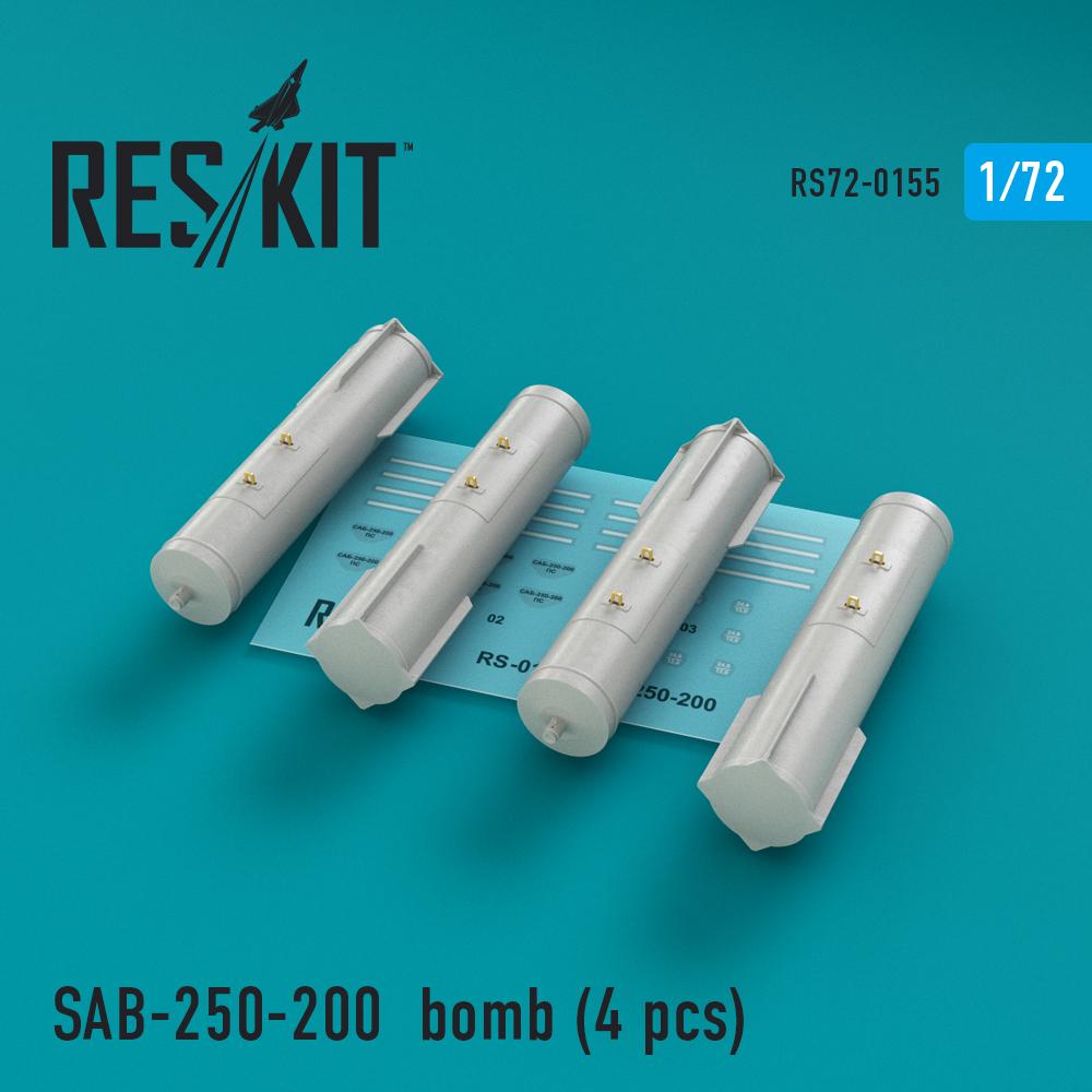 Res/Kit SAB-250-200 bomb (4 pcs) Su-7, Su-17, Su-24, Su-25, Su-27, Su-30, Su-34, MiG-21, MiG-27, Yak-38, Jak-130