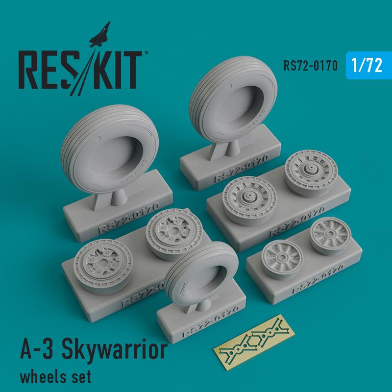 Res/Kit A-3 Skywarrior wheels set