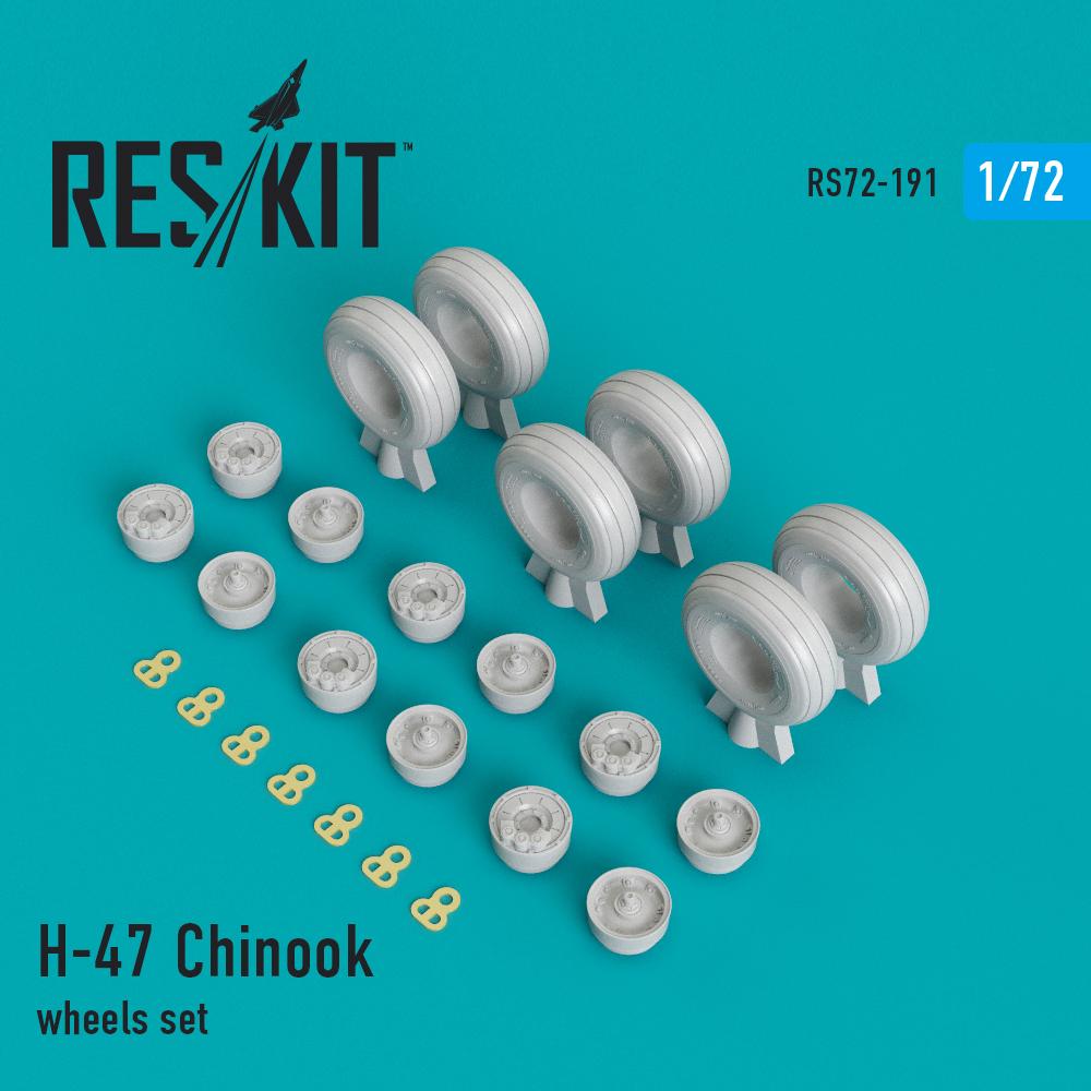 Res/Kit H-47 Chinook wheels set
