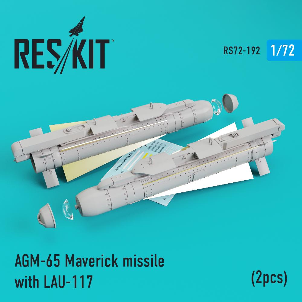 Res/Kit AGM-65 Maverick missile with LAU-117 (2pcs) AV-8b, A-10, F-16, F-18)