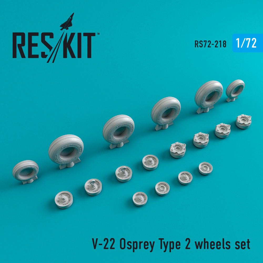 Res/Kit V-22 Osprey Type 2 wheels set