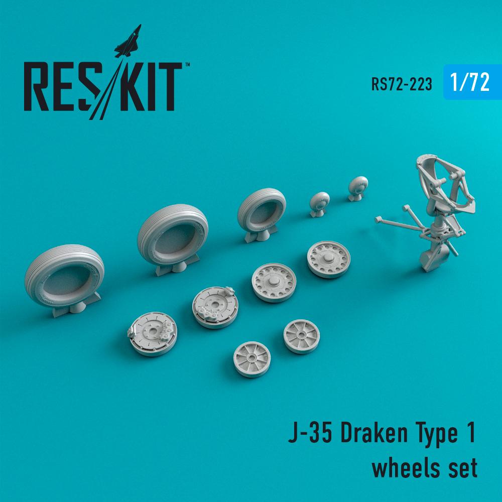 Res/Kit J-35 Draken Type 1 wheels set