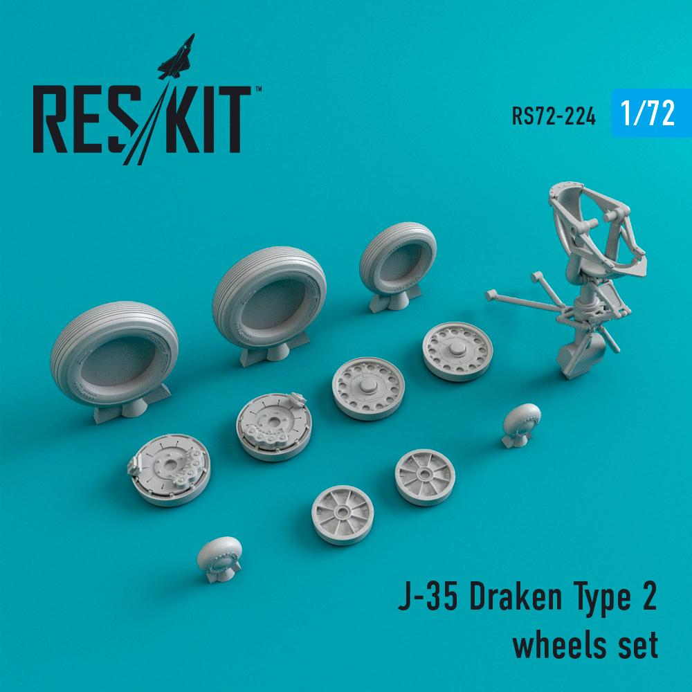 Res/Kit J-35 Draken Type 2 wheels set
