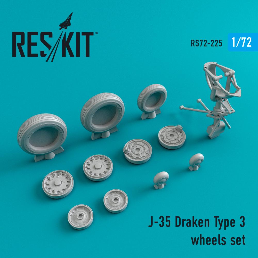 Res/Kit J-35 Draken Type 3 wheels set