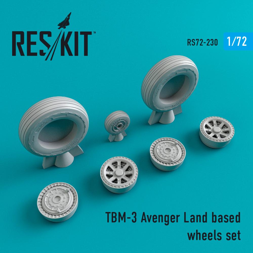 Res/Kit TBM-3 Avenger Land based wheels set
